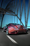 Car on bridge Royalty Free Stock Photos