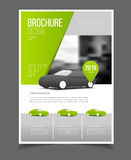 Car brochure. Auto Leaflet Brochure Flyer template A4 size desig. N, car repair business catalogue cover layout design, Abstract presentation template stock illustration