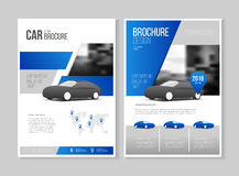 Car brochure. Auto Leaflet Brochure Flyer template A4 size desig. N, car repair business catalogue cover layout design, Abstract presentation template royalty free illustration