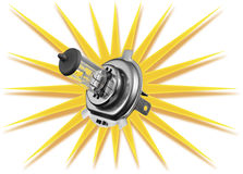 Car bulb isolated on white background Royalty Free Stock Photography