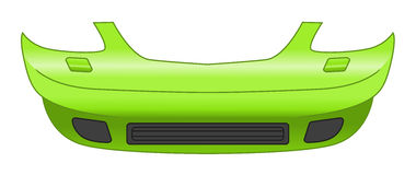 Car bumper. Illustration isolated on white background Royalty Free Stock Photography