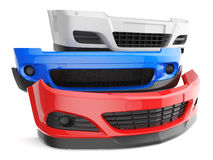 Car bumpers. Bumper bumpers  car auto front fender parts plastic automobile body Stock Photo