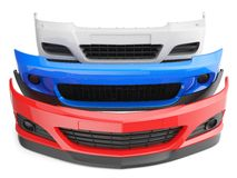 Car bumpers. Bumper bumpers  car auto front fender parts plastic automobile body Stock Photos