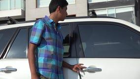 Car burglar stock footage