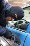 Car burglary Stock Photo