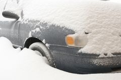 Car buried in deep snow Royalty Free Stock Photography