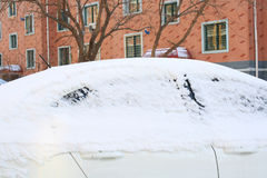 Car Buried in Snow Royalty Free Stock Photos
