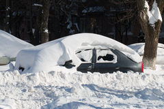 Car buried in snow. Stock Images