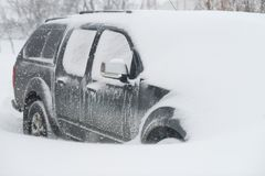 Car buried in snow Royalty Free Stock Photo