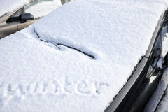 Car buried under snow Royalty Free Stock Image