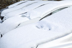 Car buried under snow Stock Photos