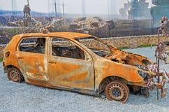 Car burned Royalty Free Stock Image