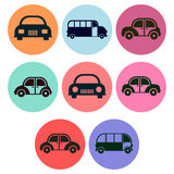 Car and Bus Icon designs Stock Photography