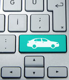 Car button on keyboard Royalty Free Stock Images