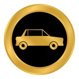 Car button on white. Royalty Free Stock Photos