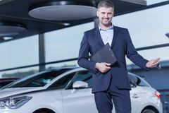 Car buyer with keys Stock Photography
