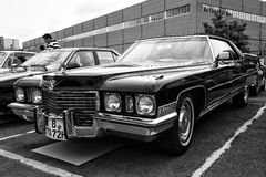 Car Cadillac Coupe de Ville (black and white) Stock Image