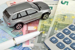 Car Calculations Royalty Free Stock Image