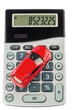 Car and calculator Royalty Free Stock Photography