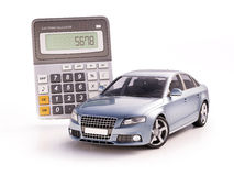 Car and calculator concept Stock Images