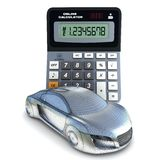 Car and calculator Royalty Free Stock Photos