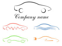 Car calligraphic logo set Royalty Free Stock Images