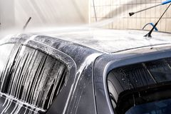 Car at the car wash Stock Photo