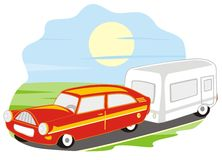 Car and caravan Royalty Free Stock Image