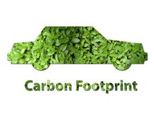 Car carbon footprint Royalty Free Stock Photos