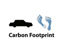 Car carbon footprint Stock Image