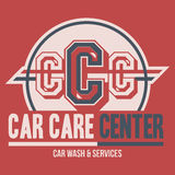 Car Care Center label t-shirt Stock Image