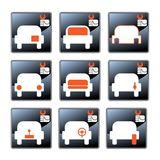 Car-care centre symbolics Royalty Free Stock Images
