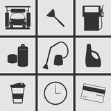 Car care Icons. Set of Icons on a theme car care Stock Photo