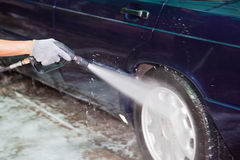 Car care work with machine cleaning Royalty Free Stock Photography