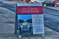 Car and carriage caravan museum Stock Images