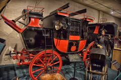 Car and carriage caravan museum Royalty Free Stock Image