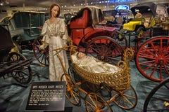 Car and carriage caravan museum Stock Photos