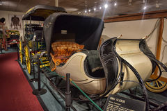 Car and carriage caravan museum Stock Photo