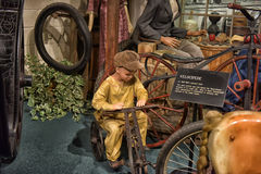 Car and carriage caravan museum Royalty Free Stock Photography