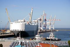 Car Carrier In Harbor Royalty Free Stock Image
