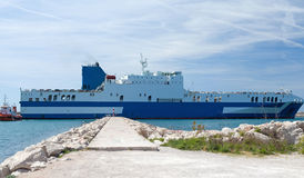 Car carrier leaves the Port Royalty Free Stock Image