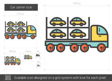 Car carrier line icon. Stock Image