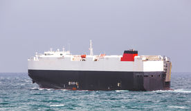 Car carrier ship. At sea Royalty Free Stock Images