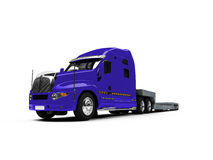 Car carrier truck back view Royalty Free Stock Photos
