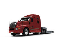 Car carrier truck back view. Isolated car carrier truck over white Stock Image
