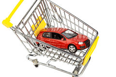 Car in cart Royalty Free Stock Photography