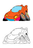 Car cartoon 2 Stock Photos