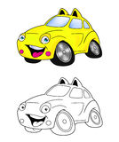 Car cartoon coloring page 6 Stock Image