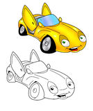 Car cartoon coloring page 7 Stock Images
