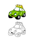 Car cartoon coloring page 8 Royalty Free Stock Images